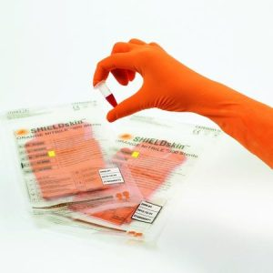 Shieldskin Orange Nitrile 300 Sterile PPE Glove - 67635