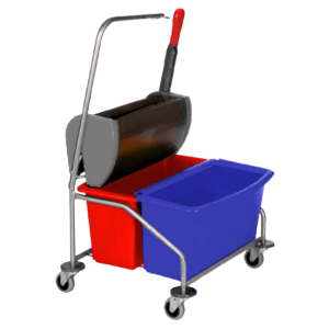 Cleanroom Mop Cart with Buckets