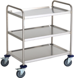 Stainless Steel Cleanroom Trolley 3 Shelf - CESTROLLEY1