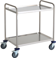 Stainless Steel Cleanroom Trolley 2 Shelf - CESTROLLEY2