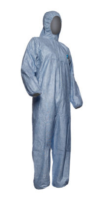 Dupont Tyvek Disposable Coverall Classic Xpert Blue Hooded