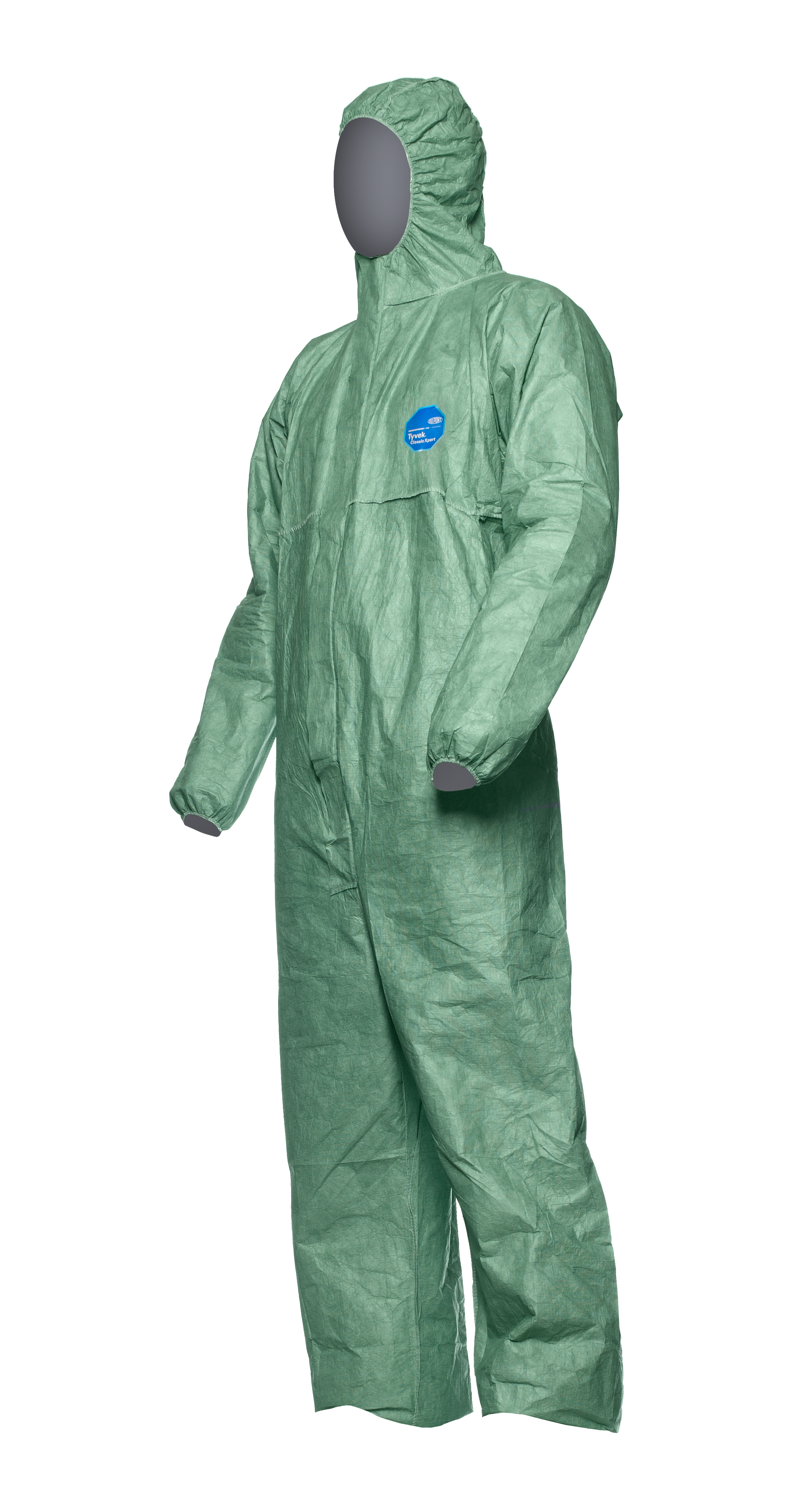 Dupont Tyvek Disposable Coverall - Classic Xpert Green Hooded