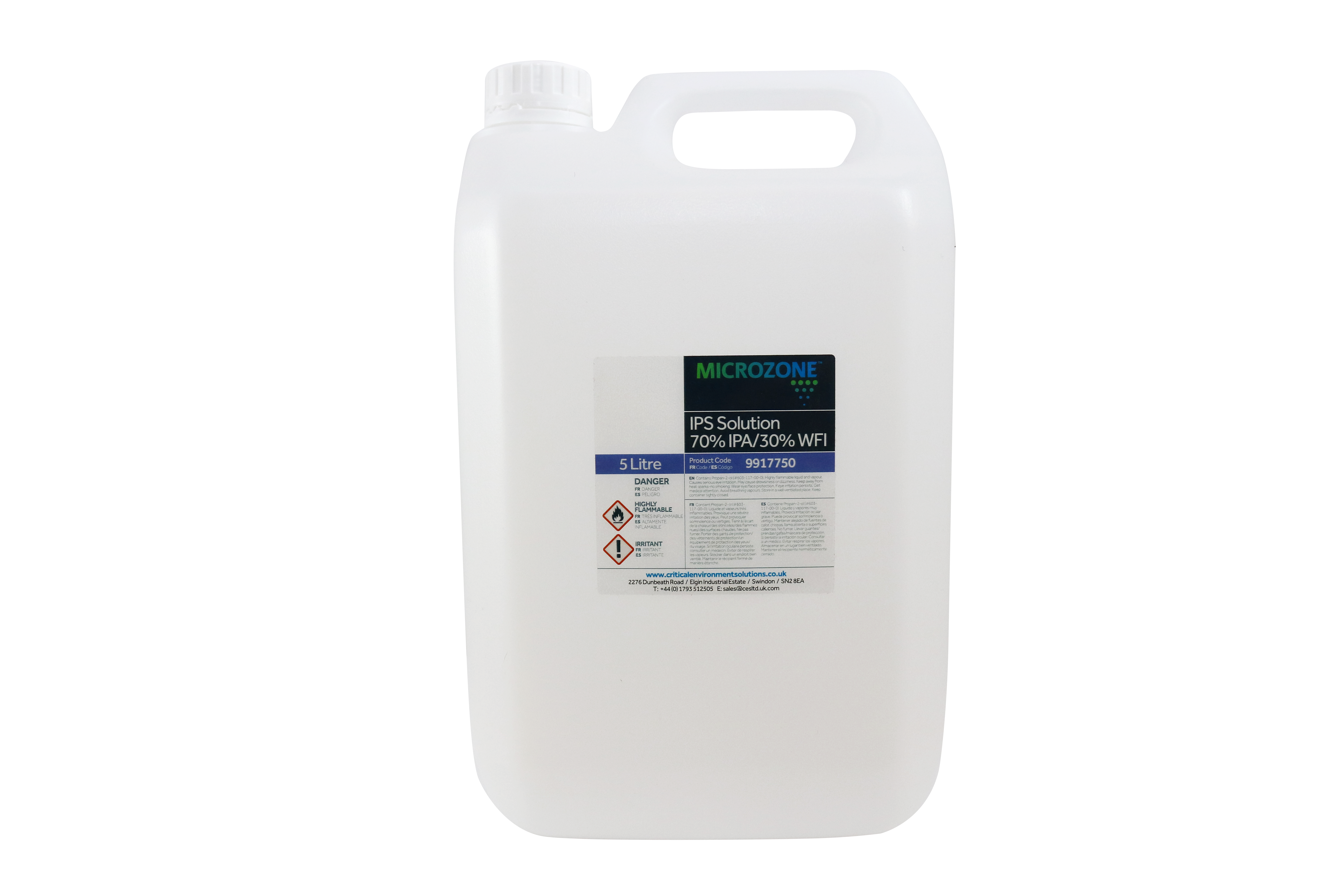 Admirable Microzone Cleanroom 70 Ips Disinfectant Solution 5Ltr Home Interior And Landscaping Ferensignezvosmurscom
