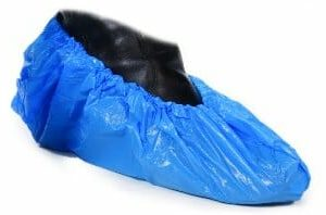 Microzone Disposable CPE Overshoes Blue 36cm - OS1D