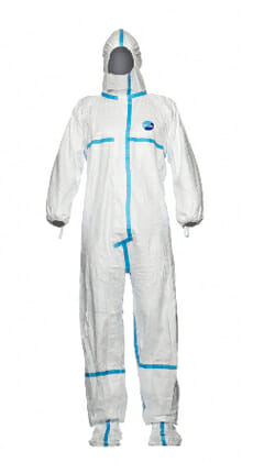Dupont Tyvek® 600 Plus Hooded Coverall with Socks - Sterile