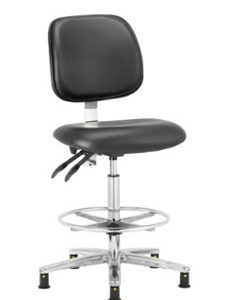 Cleanroom Chair - Conductive High Chair - CHEPS301