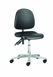 Cleanroom Chair - Deluxe PU Height Chair - CHEPS401