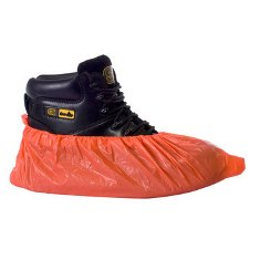 Disposable CPE Overshoes Red 41cm - OS4