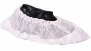 Disposable PVC Overshoes Heavy Duty White - OSHD1